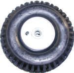 "Inflatable tire & rim assembly-10""Hx3.5""W, 4"" dia. Rim"